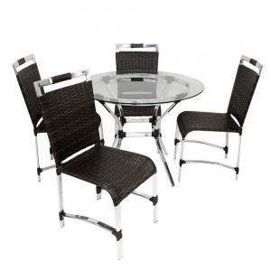 Conjunto Saint Phelipe mesa aro 60 + 4 cadeiras