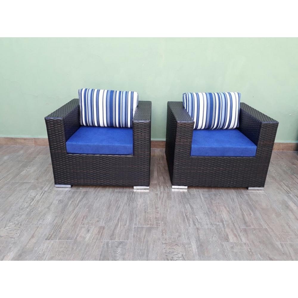 Conjunto Uruguai  sofá 2 lugares + 2 poltronas