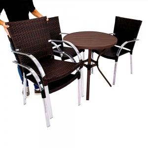Mesa + 4 cadeiras atenas